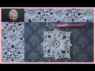 Crochet Motif Flower in the Frame | Crochet Flower Lace Pattern 1⃣