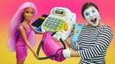 Видео про игры в магазин одежды для кукол. Что купят Эльза, Леди Баг, Барби и Кен