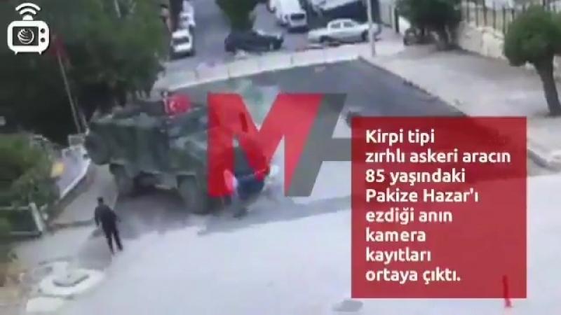Турецкий террор против курдов турецкий бронетранспортер переехал 85-летнюю курдянку