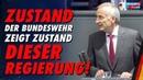 Zustand der Bundeswehr zeigt Zustand dieser Regierung! - Martin Hohmann - AfD-Fraktion im Bundestag