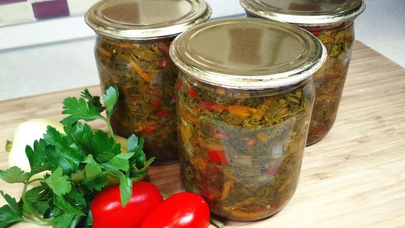 УНИВЕРСАЛЬНАЯ овощная заправка на зиму ко всем блюдам. Надежный рецепт с рассолом и стерилизацией.