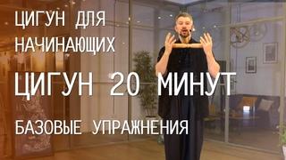 Цигун для начинающих / Базовые упражнения  / Видео уроки для занятий дома / 20 минут