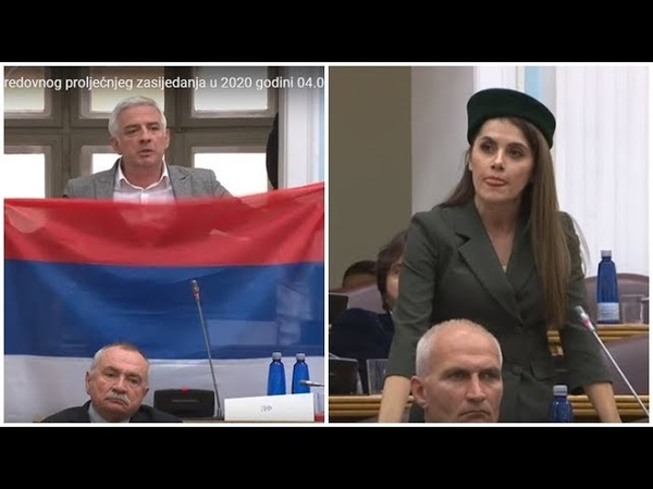 Pogledajte: Skupština Crne Gore - zbog srpske zastave Milova poslanica uzbuđena