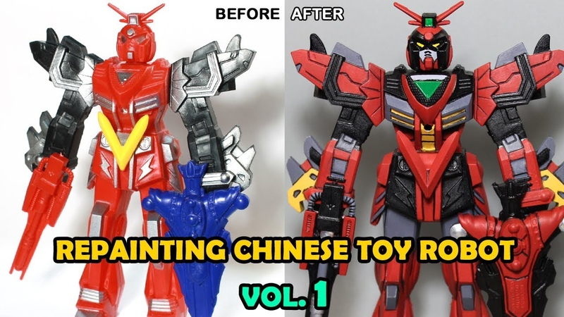 Repainting a cheap Chinese Toy Robot Vol 1