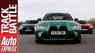 BMW M3 Competition vs Mercedes-AMG A45 vs Honda Civic Type R GT: Steve Sutcliffe Track Battle