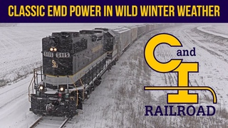 Classic EMD Power in Wild Winter Weather on the Chesapeake & Indiana