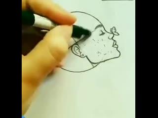 Мастер-класс как карандашом нарисовать человека профиль