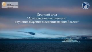 """Круглый стол """"Арктические экспедиции: изучение морских млекопитающих России"""""""