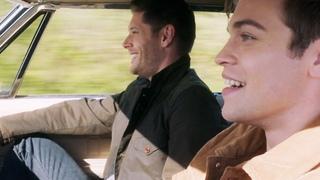 Дин учит Джека водить машину. Джек за рулем. Сверхъестественное