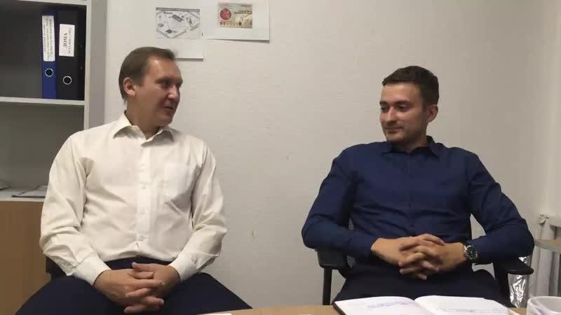 Юшкин Олег в гостях Кадтех Апухтина Сергея регистрация гаражей.