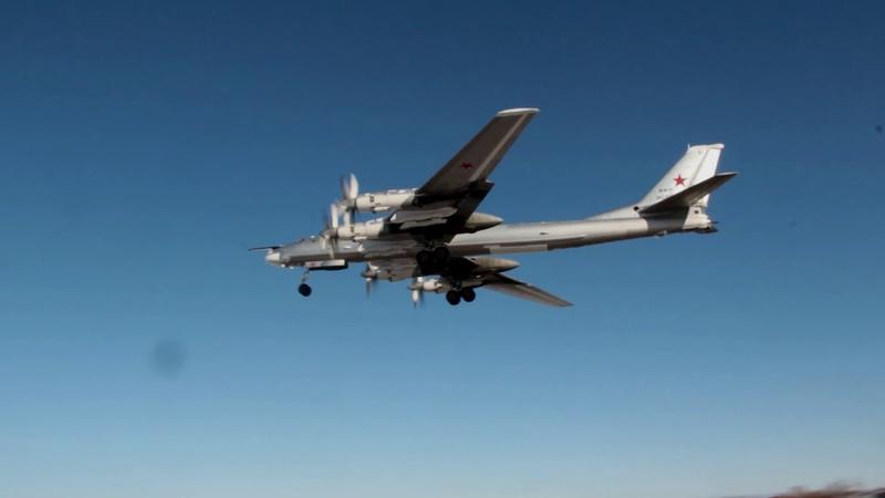 Плановый полет российских Ту 95МС над водами Желтого Японского и Восточно Китайского морей