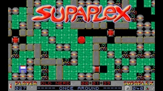 Old Games - Supaplex (PC DOS) / #27 Once Around / Gameplay