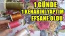 1 GÜNDE 1 KENARINI YAPTIM EFSANE OLDU 😍 iğne oyası dıy needlepoint hand embroidery 2020 how to