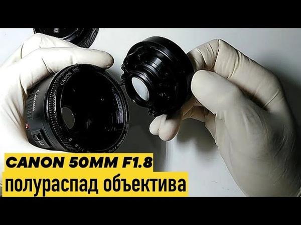 полураспад объектива Canon 50MM f1 8