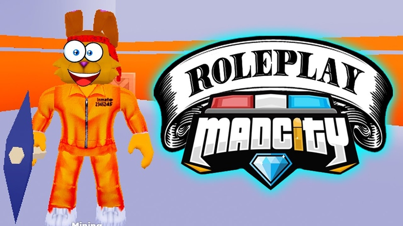 РОЛЕВАЯ ИГРА в МЕД СИТИ Роблокс Mad City Roblox КИБЕРЗАЯЦ