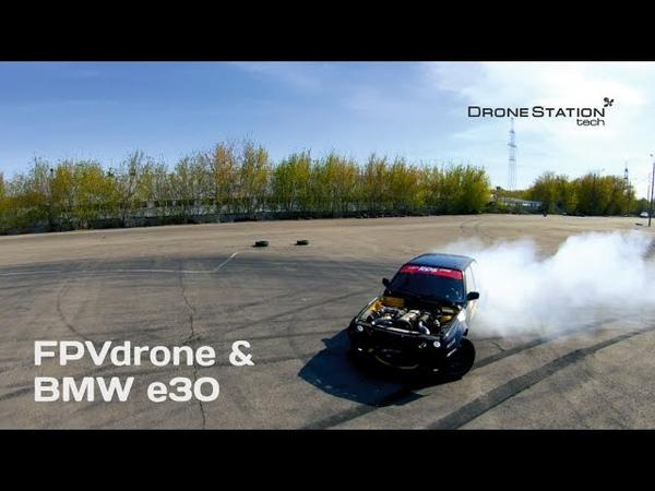 Старт FPV дрона с машины на ходу GoPro7