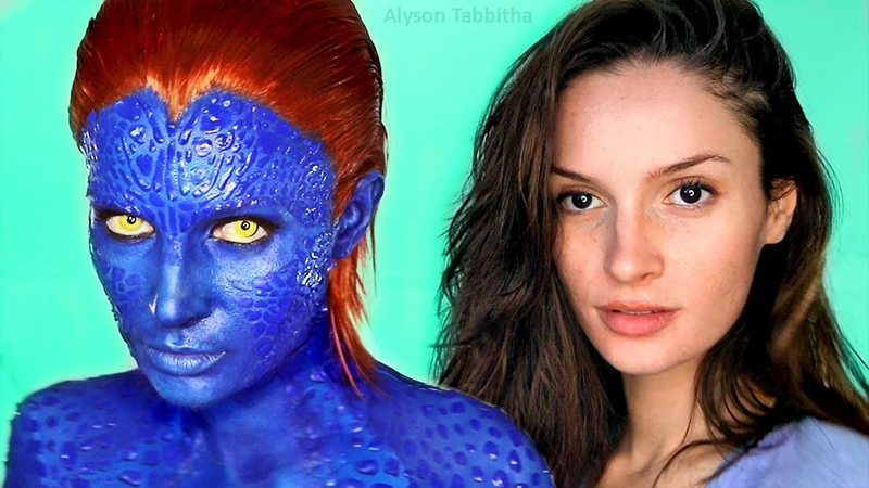 Mystique X Men Makeup Transformation Cosplay Tutorial