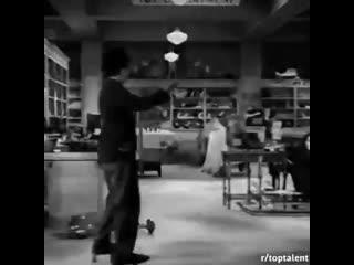 Как снимали сцены с Гарольдом Ллойдом и Чарли Чаплином