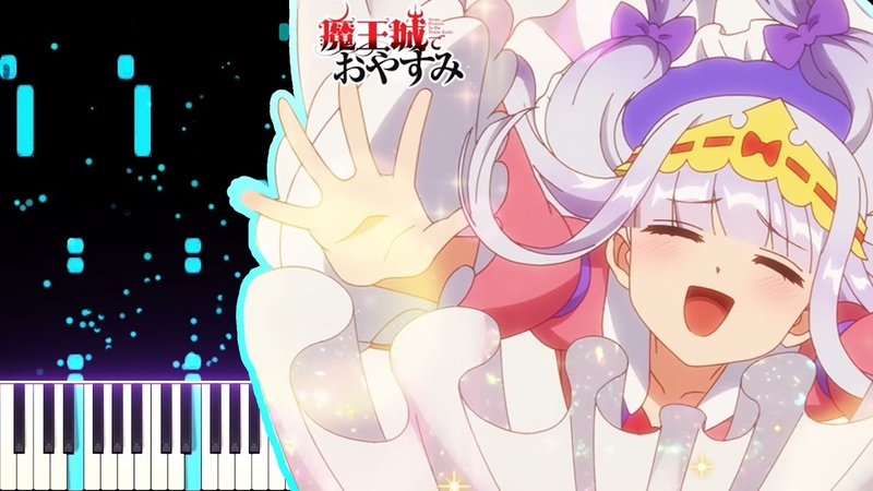 Maoujou de Oyasumi 魔王城でおやすみ ED - Gimmme! (ORESAMA)   [Piano Cover] (Synthesia)「ピアノ」