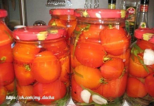 Как приготовить маринованные помидоры сладко-острые!