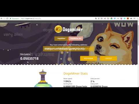 Dogeminer cc заработок доджкоин DOGE криптовалюта как заработать в интернете деньги дороже доллара