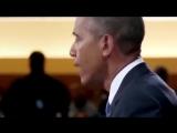 Если вы вдруг хотите знать, как выглядит настоящая скорбь настоящего лидера нации. - Обама