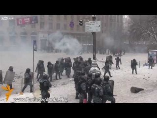 Ukraine special police charges rioters