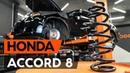 Как заменить пружины передней подвески HONDA ACCORD 8 CU2 ВИДЕОУРОК AUTODOC