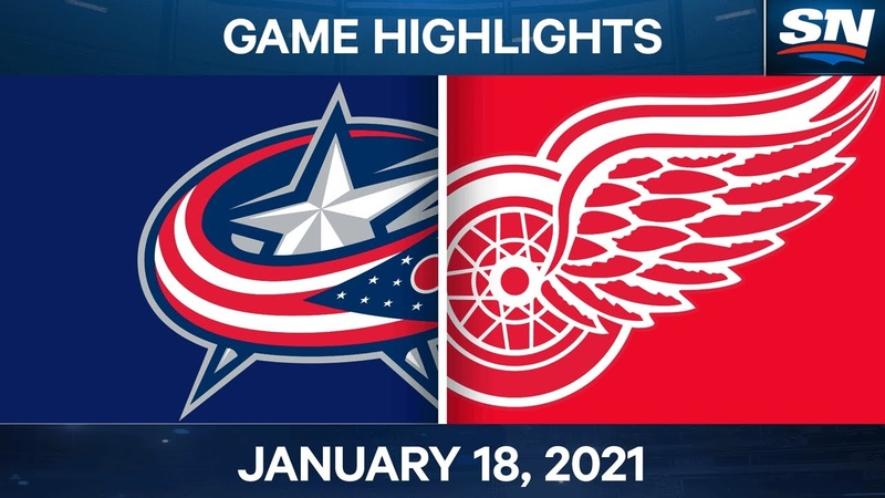 NHL Game Highlights | Blue Jackets vs. Red Wings