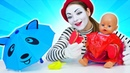 Come vestire le bambole Challenge per Sam e Mary! Video divertente per bambini in italiano