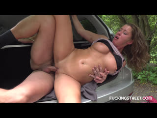 FuckingStreet Elisa Tiger Czech-Sexy whore fucks stranger for lift Fucking Street Teen Money Pickups Amateur Stranger Public
