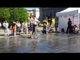 Open air performance Argentine Tango. Mir Tango. Un solo minuto de amor