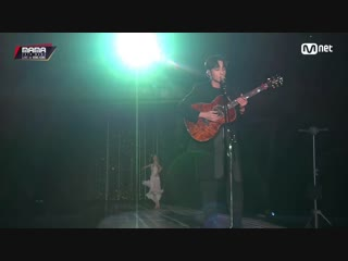 Roy kim - only then + the hardest part @ 2018 mama in hong kong 181214