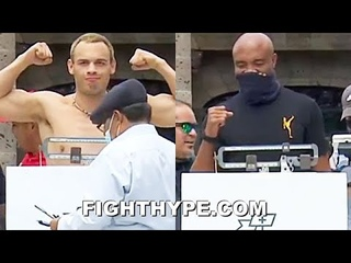 JULIO CESAR CHAVEZ JR. VS. ANDERSON SILVA WEIGH-IN & FINAL FACE OFF