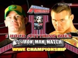 WWE Bragging Rights 2009 John Cena Vs Randy Orton Iron Man Match