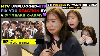[ENG]7년차아미의 MTV Unplugged Fix you 리액션💜 I MTV Unplugged-BTS Fix you Reaction by a 7th years K-Army💜