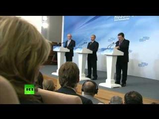 Пресс-конференция Владимира Путина и Хермана Ван Ромпея