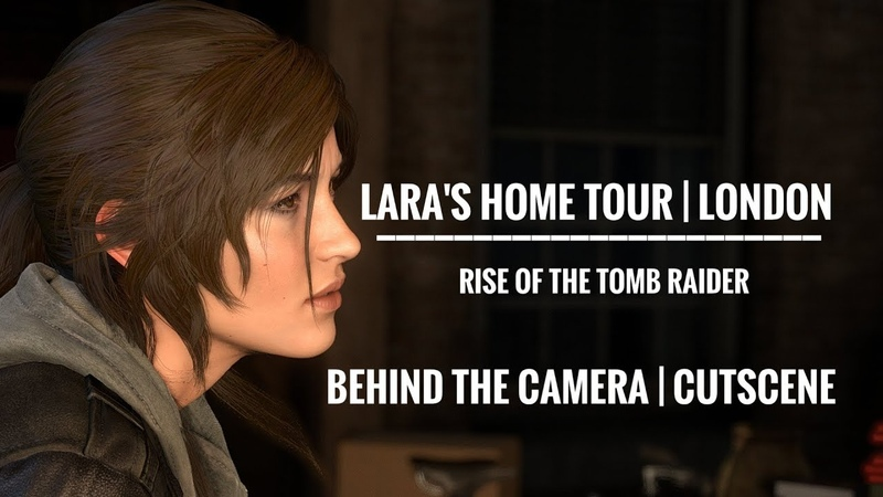 Rise of the Tomb Raider Lara's room tour in London Camera mode behind the cutscene