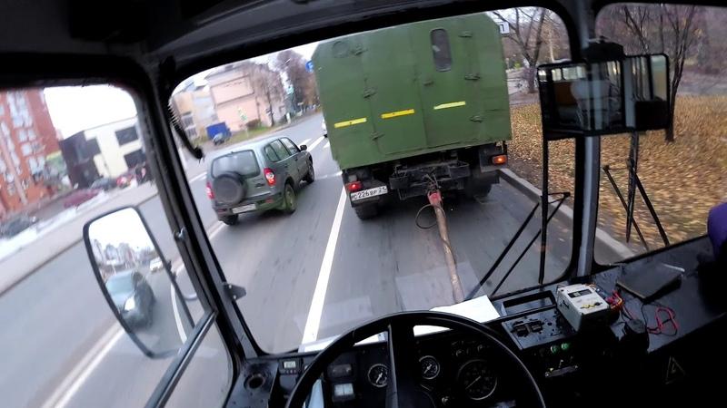 Буксировка троллейбуса. 2019