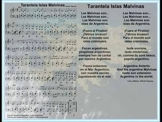 Tarantela Islas Malvinas Piano Alfredo Figueras Partituras Gratis Argentina