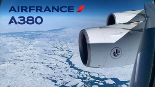 Air France Airbus A380, Arctic route, 🇫🇷 Paris CDG ✈️ Los Angeles LAX 🇺🇸 [FULL FLIGHT REPORT]