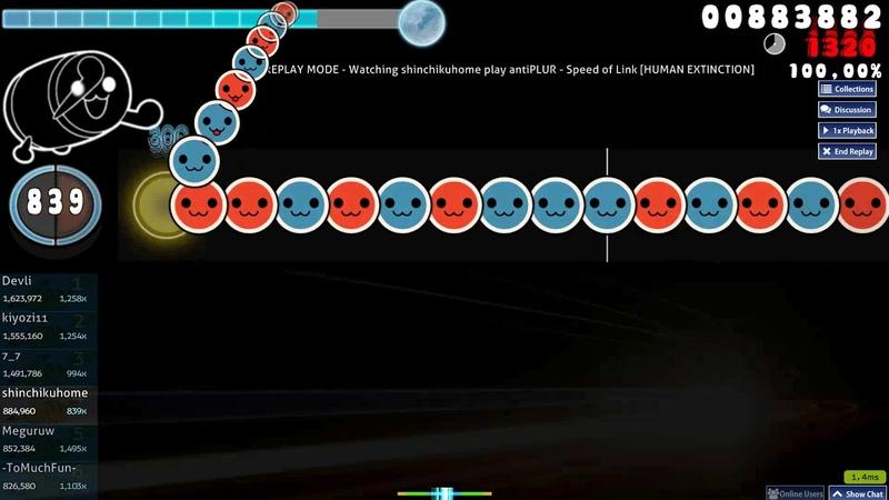 Osu!taiko | shinchikuhome | antiPLUR - Speed of Link [HUMAN EXTINCTION] | SS 1 LOVED