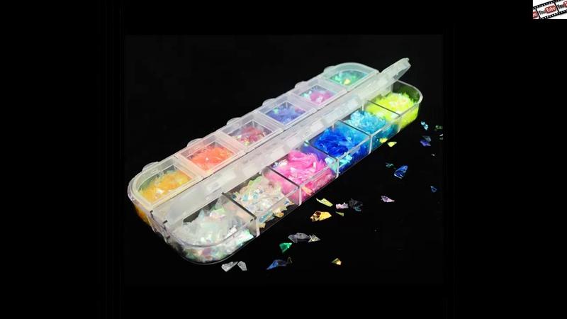 12 цветов 3D ультратонкие блестки круглой формы для дизайна ногтей блестящие хлопья Смешанные Мини
