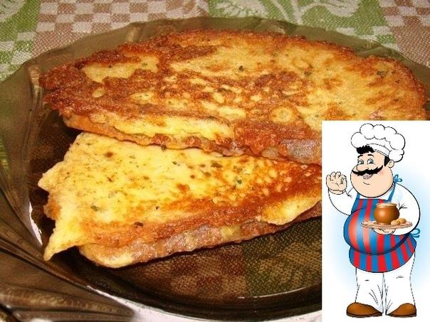 Гренки сырные Предлагаем вам очень вкусные гренки. Хороши они и в горячем и холодном виде. Попробуйте. Затрата времени на приготовление минимум, можно готовить на завтрак! Ингредиенты: Батон