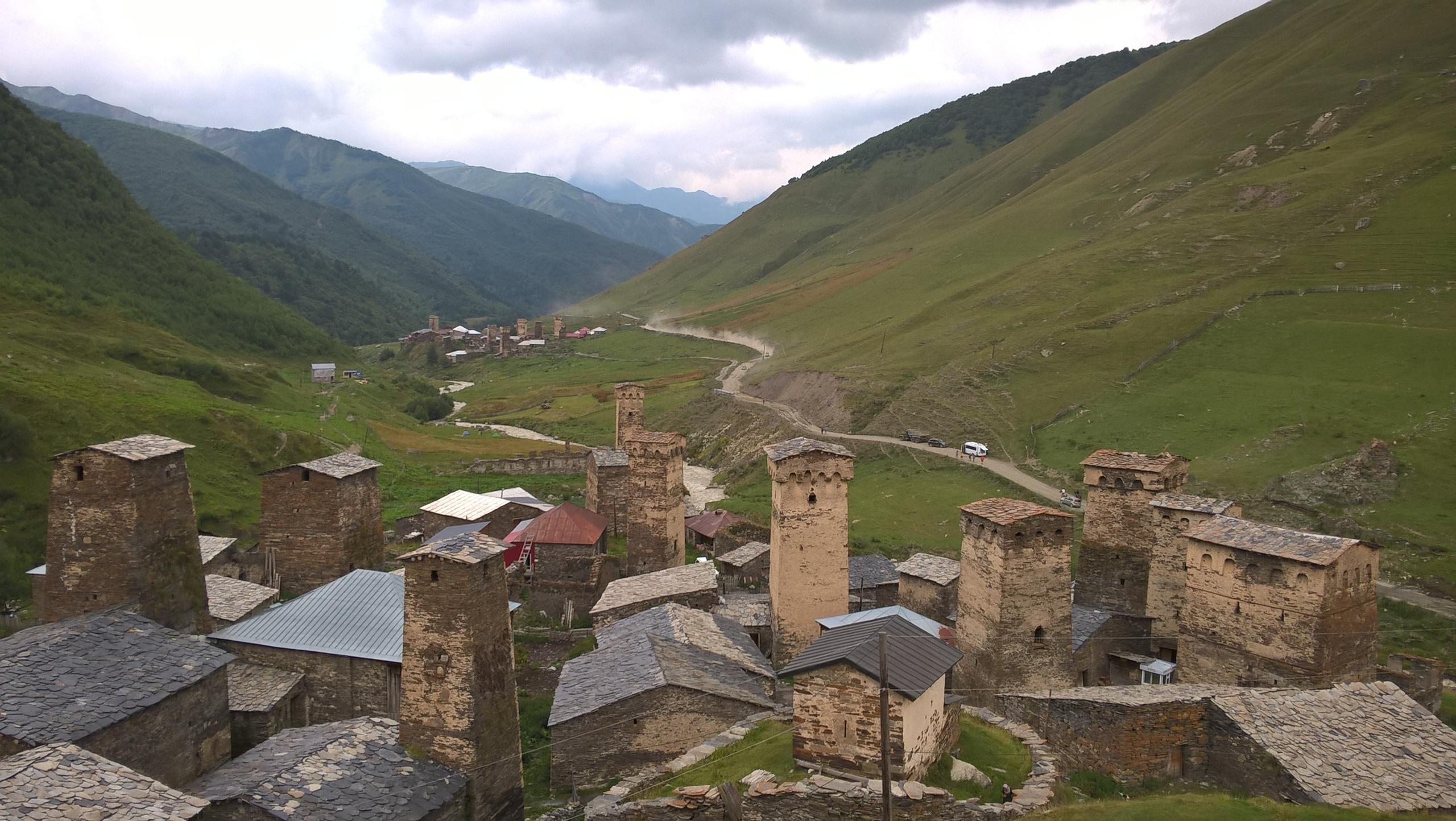 Вид центральной части Ушгули