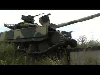 Танк Т-64Б1М испытания  (T-64B1M Main battle tank  is a recent Ukrainian upgrade of the T-64B1)