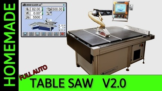 How I Made This Fully Automatic Table Saw циркулярка на электронном управлении форматник