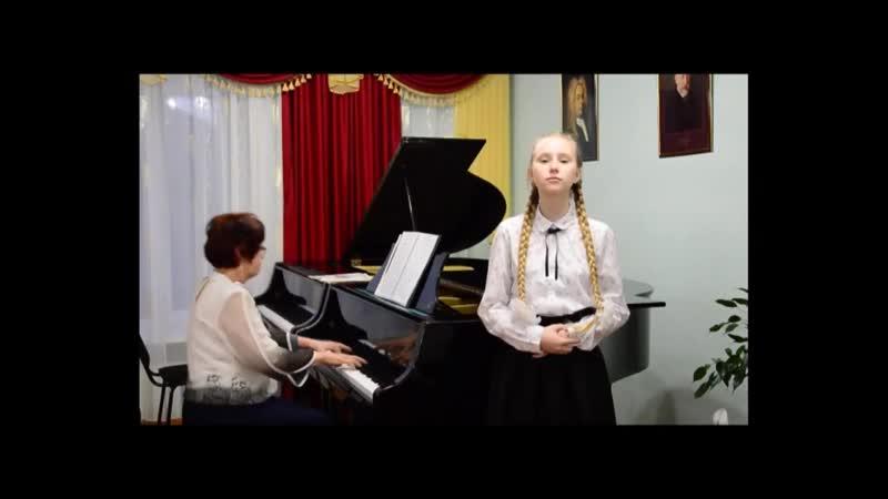Данильченко Вера с песней А Петряшевой Я хочу чтобы не было больше войны