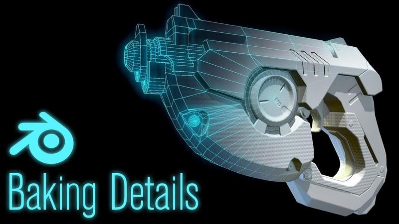 Making Tracer's Gun in Blender Part 5 UV Creation and Baking Details