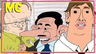 """Сериал """"Офис"""" анимационная пародия [РУССКАЯ ОЗВУЧКА] A Regrettable Office Cartoon by MeatCanyon"""